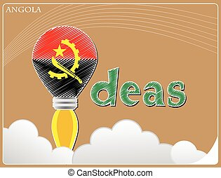Idea concept made from the flag of Angola, conceptual vector illustration