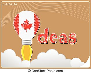 Idea concept made from the flag of Canada, conceptual vector illustration
