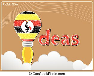 Idea concept made from the flag of Uganda, conceptual vector illustration