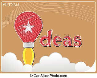 Idea concept made from the flag of Vietnam, conceptual vector illustration