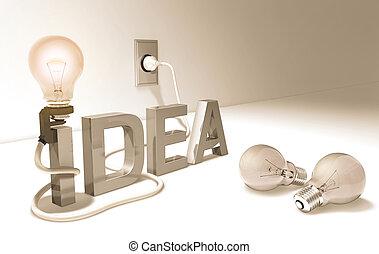 Idea - Concept of good idea.