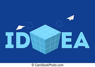Idea concept. Thinking about innovation and find solution