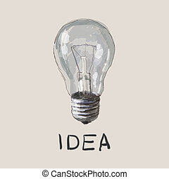 idea., concept., vettore, disegno