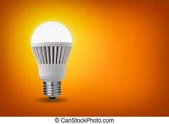 led bulb - Idea concept with glowing led bulb