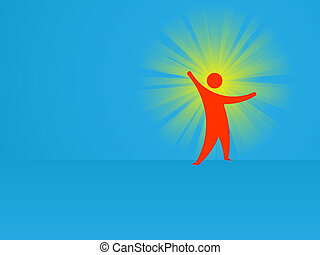 Idea - conceptual abstract vector illustration - The man and...
