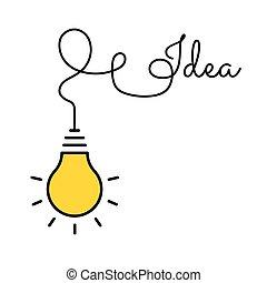 idea., concetto, efficace, thinking., invenzione, luce, concept., process., idee, innovazione, pensare, grande, bulbo, cominciando, brainstorm, ispirazione