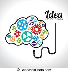 Idea design over white background, vector illustration