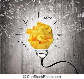 idea, e, innovazione, concetto
