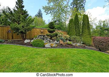 Idea for backyard landscape