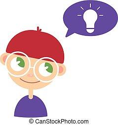 idea., geek., nerd, 創造的