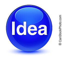 Idea glassy blue round button