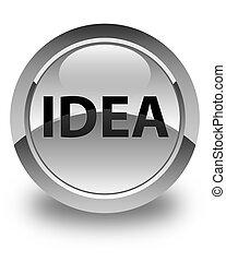 Idea glossy white round button