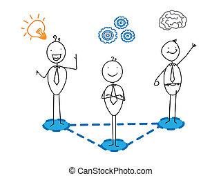 idea good progress Smart businessman team connection vector ...