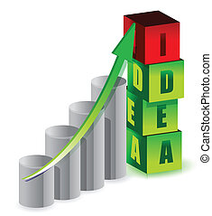 idea graph illustration design over white background
