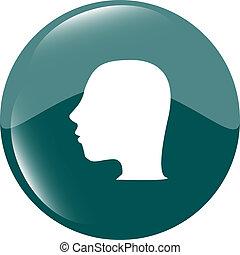 Idea head icon button