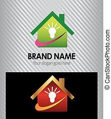 Idea house real estate logo