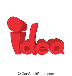 Idea icon, cartoon style