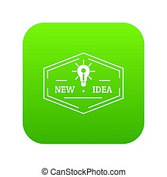 Idea icon green