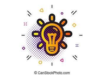 Idea icon. Light bulb sign. Vector