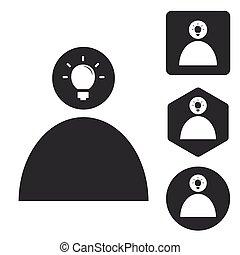 Idea icon set 2, monochrome