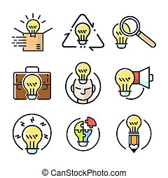 idea icon set color