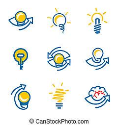 Idea icons set isolated on white background - Idea icon...