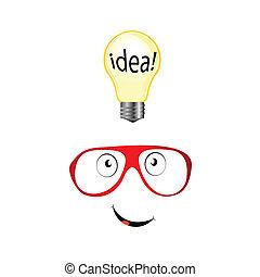 idea, illustrazione, occhiali