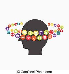 idea., innovation., 技術, 人間