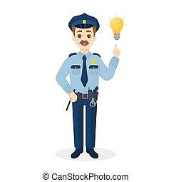 idea., isolato, poliziotto