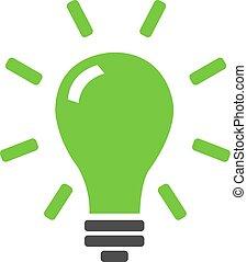 Idea Lamp Icon Isolated