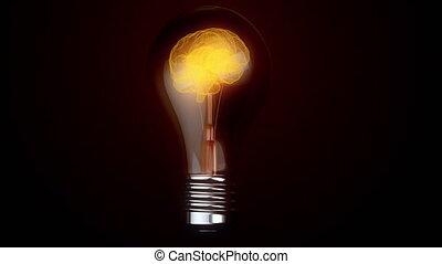 idea., lampa, mózg