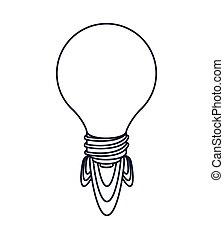 idea launcher bulb isolated icon design