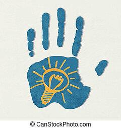 idea., licht, concept, bulb.