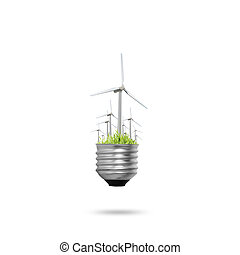 light bulb Alternative energy concept
