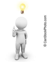 Idea Light Bulb - Bobby has a great Idea he wants to tell...