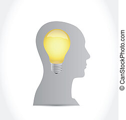idea light bulb illustration design over a white background