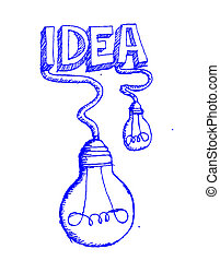 idea Light bulb vector icon