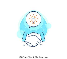 Idea line icon. Light bulb sign. Vector