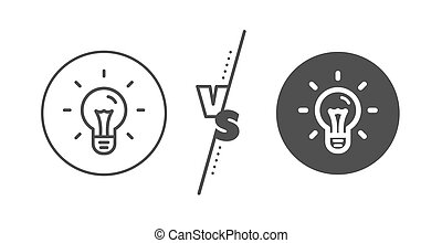 Idea line icon. Light bulb sign. Vector