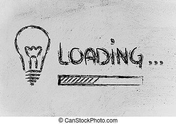 idea loading, progress bar