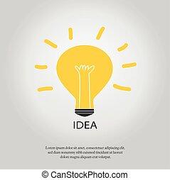 idea., lumière, concept, ampoule