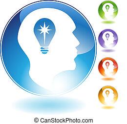 Idea Man Crystal Icon