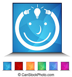 Idea Man Shiny Button Set