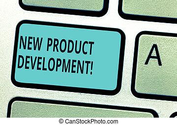 idea., marché, development., business, clavier, processus, photo, créer, urgent, produit, écriture, note, intention, clef informatique, clavier, showcasing, nouveau, message, apporter, projection