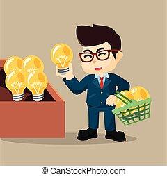 idea negocio, compra, hombre