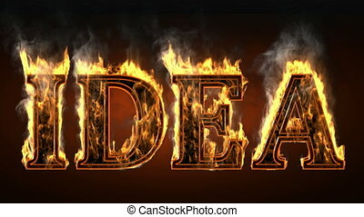 idea of fire with smoke