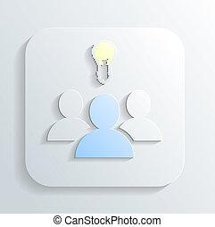 idea of ??the icon vector