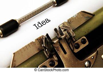 Idea on typewriter