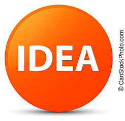 Idea orange round button