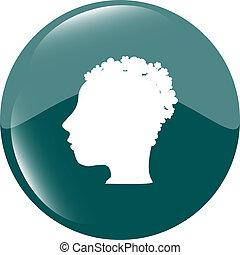 idea people head circle glossy web icon